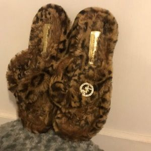 Michael Kors Cheetah Flip Flop Slippers